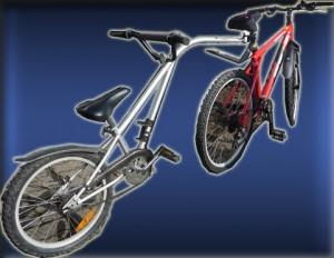 Sykkelen min med påmontert juniorsykkel