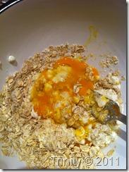 En neve lettkokte havregryn - One hand/fist oatmeal