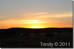 Solnedgang i Namibia