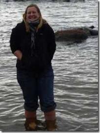 Å vade i fjorden midt i oktober er kaldt - men det er her og nå - og det skaper gode følelser - lykke og yrhet - å bade når det er kaldt hjelper også utrolig på adrenalinsfølelsen ;-)