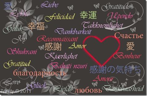 Vi kan aldri få for mye Kjærlighet, Lykke og Takknemlighet/ Love_Joy_Gratitude