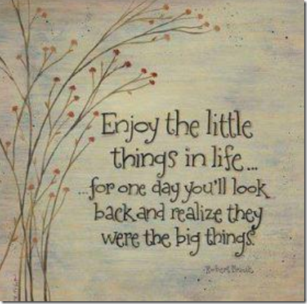 Når du tenker vedvarende gode tanke vil loven om tiltrekning bruke disse tankene til nytte for deg - lær deg derfor å sette pris på de små tingene i livet
