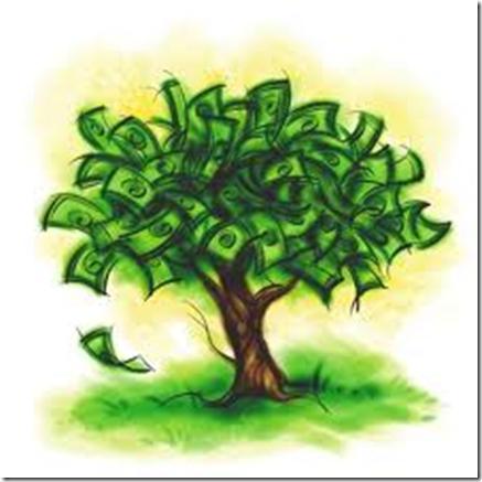 Pengetreet et godt symbol på uant rikdom