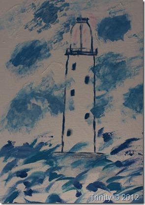 Da jeg var i en tung periode i mitt liv malte jeg fyrtårn/ fyrlykter