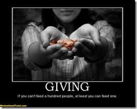 Hvis du ikke kan hjelpe hundrevis av mennesker, så kan du i alle fall hjelpe en