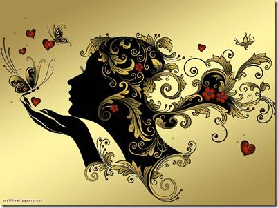 La hjertet ditt hviske til deg - lytt til hjertet ditt når det hvisker til deg at alt er kjærlighet og alt er bra