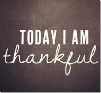 Jeg er takknemlig i dag og hver eneste dag